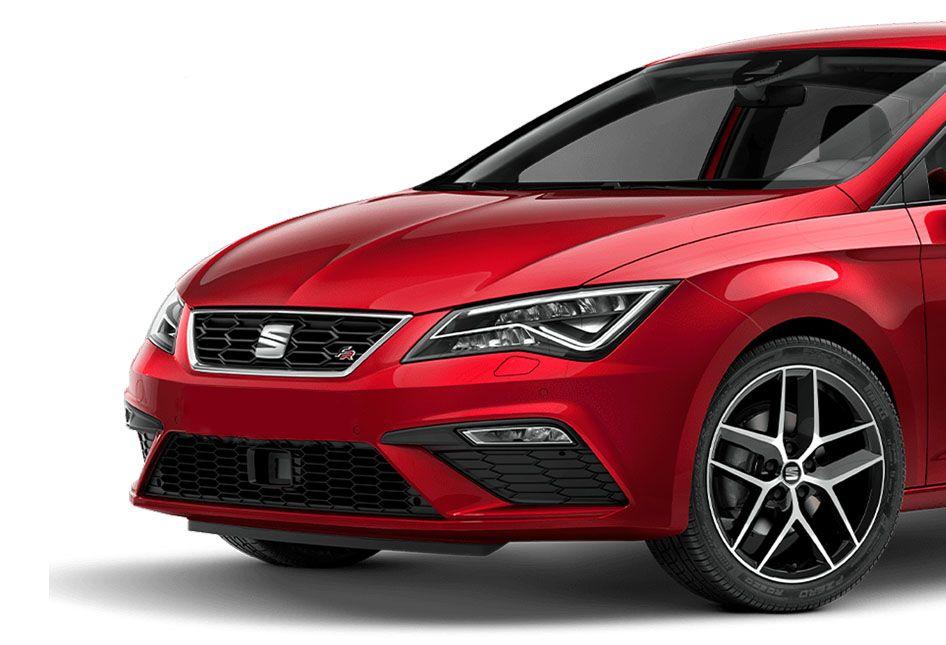 Seat Ibiza rojo exterior detalle frontal